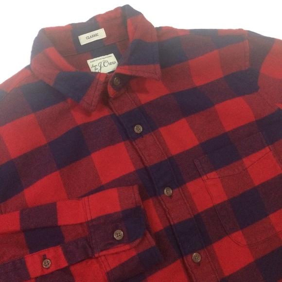 J. Crew Sewn for J. Crew Men Classic Flannel Shirt